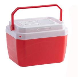 Caixa Termica De Plastico Vermelho 40l 50,5x41x37cm