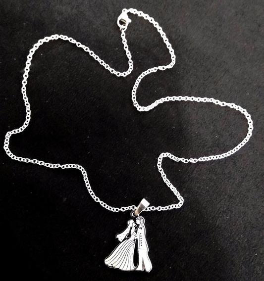 Colar/cordão/corrente Pingente Casamento Noivos Aço Inox