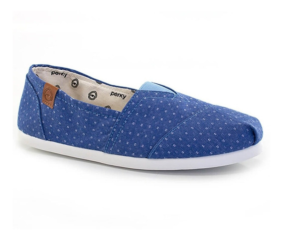 Alpargatas Perky Dark Denim Dots - Way Tenis