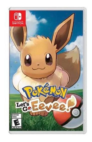 Jogo Pokemon Lets Go Eevee Nintendo Switch Midia Fisica