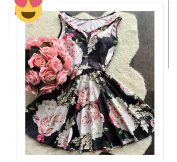 Vestido Estilo Boneca Neoprene Ref4531