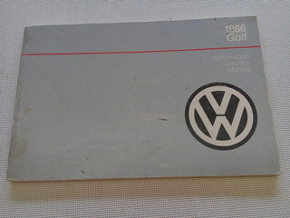 Vw Golf Gl 1986 Manual De Usuario Usado Oem Americano