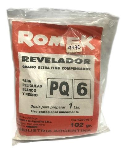 Imagen 1 de 2 de Revelador Romek Pq6  P/ Peliculas Fotografia Byn 1lt (9470)