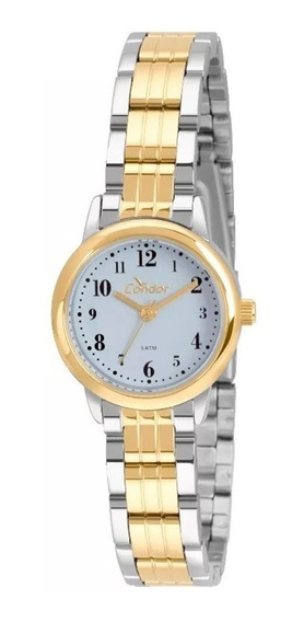 Relógio Feminino De Pulso Condor Dourado E Prata Pequeno