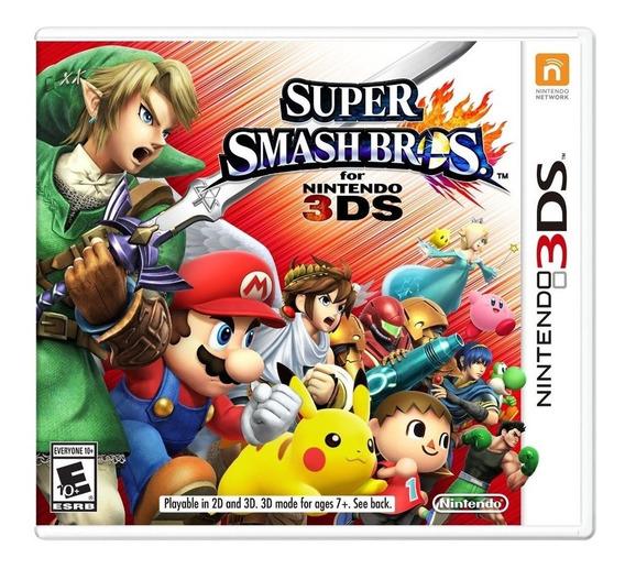 Super Smash Bros 3ds Mídia Física Lacrado