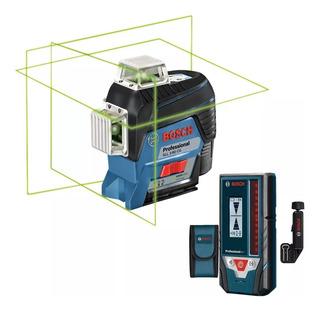 Nivel Laser Bosch 3 Lineas Verdes Gll 3-80 Cg + Receptor Lr7