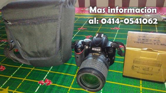 Nikon D5100 Con Poco Uso + 2 Lentes: 18-105 Y Un 50mm 1.8.