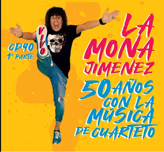 Cd La Mona Jimenez 50 Años Con La Musica De Cuarteto