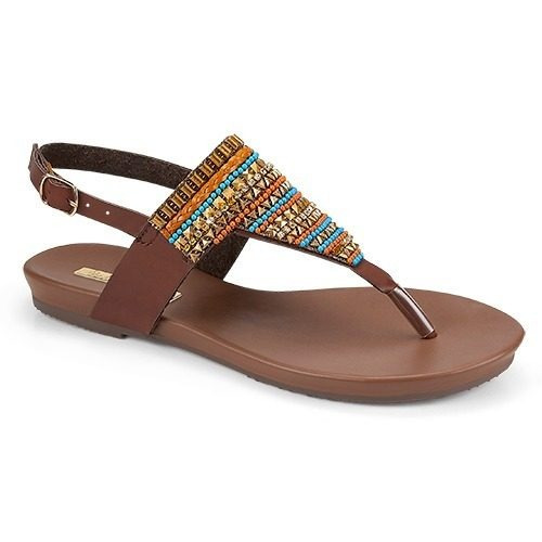 Sandalia 4 Elementos, Piso, Color Tan, Dama, Envio, Moda