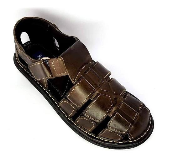 Kit 3 Sandálias Masculina 100% Couro Shoes