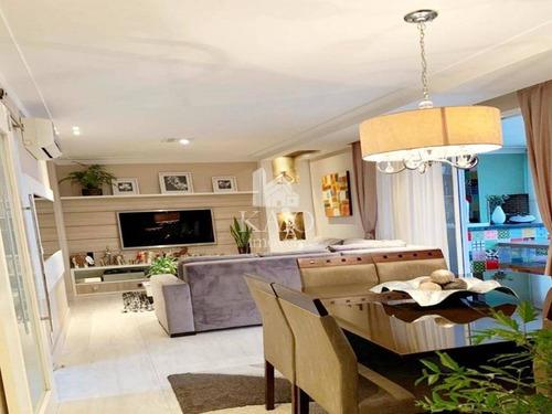 Apartamento Mobiliado 127m² 3 Suites Andar Alto 3 Vagas