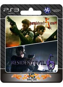 Resident Evil 5 + 6 -ps3- (digital) **
