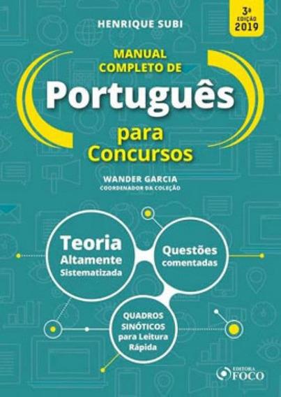 Manual Completo De Português Para Concursos - 3ª Edição