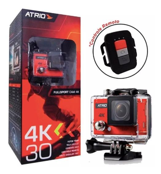 Câmera Filmadora Fullsport Cam 4k 720p 16mp Atrio - Dc185