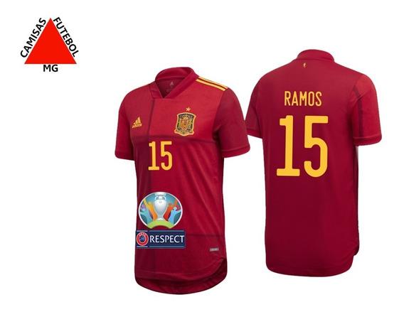 Camisa Espanha Uefa Euro 2020 Ramos#15 - Pronta Entrega