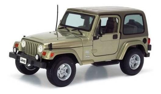Jeep Wrangler Sahara Bege Burago Escala 1/18