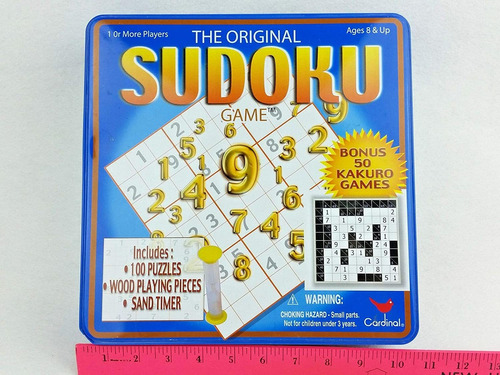 Lata De Juego De Lujo Cardinal Industries Sudoku / Kakuro