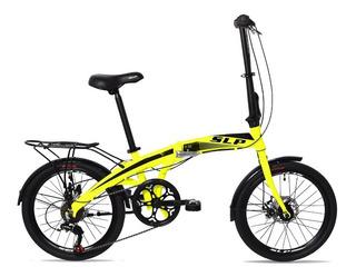 Bicicleta Plegable Folding Rodado 20 Slp Aluminio Disco Cambios Shimano - Llantas Reforzadas Garantia Cuotas Happy Buy
