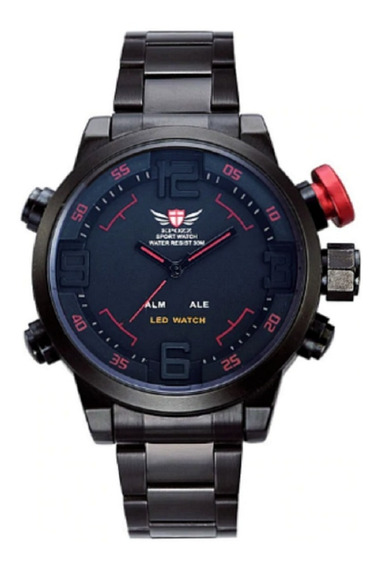 Relógio Epozz Analógico E Digital Marca De Luxo Moda Militar