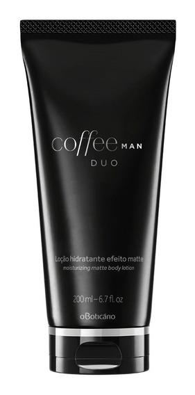 Coffee Creme Hidratante Desodorante Corporal Matte Duo Man 200ml