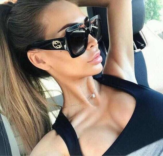 Óculos De Sol Gucci Quadrado Abelhinha Preto