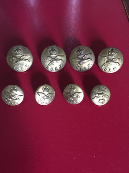 Botones Raf Segunda Guerra Mundial Originales Bronce