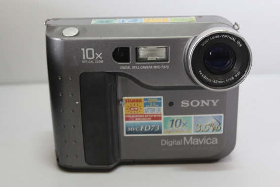 Câmera Fotografica Sony Mavica Mvc-fd73 Retro Para Coleção