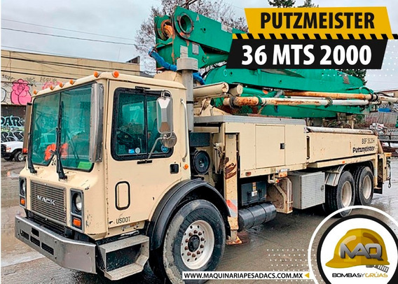 Camión Mack - Bomba De Concreto Putzmeister 36 Mts 2000