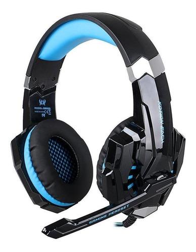 Imagen 1 de 2 de Audífonos gamer Kotion Each G9000 black y blue