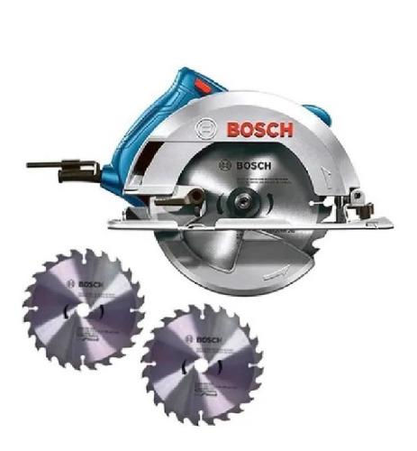 Imagen 1 de 5 de Sierra Circular 7 1/4 PuLG 1 500 W Con 2 Disco Bosch Gks 150
