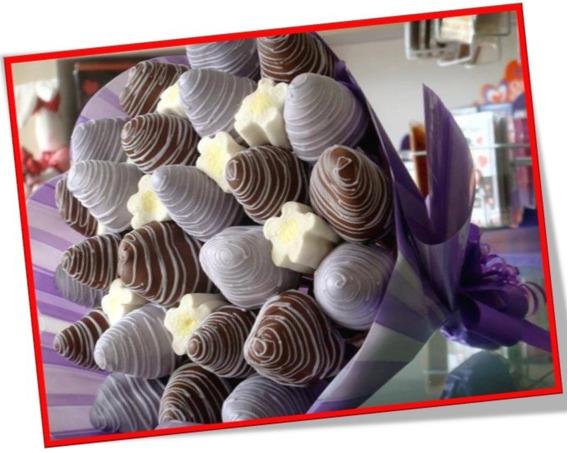 Arreglos De Frutillas Con Chocolate