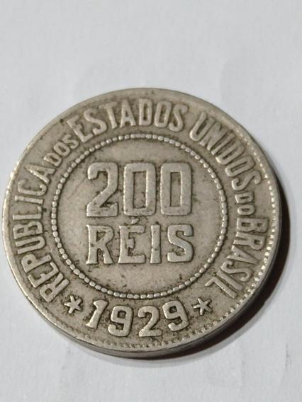 Moneda De Brasil,200 Reís,año 1929
