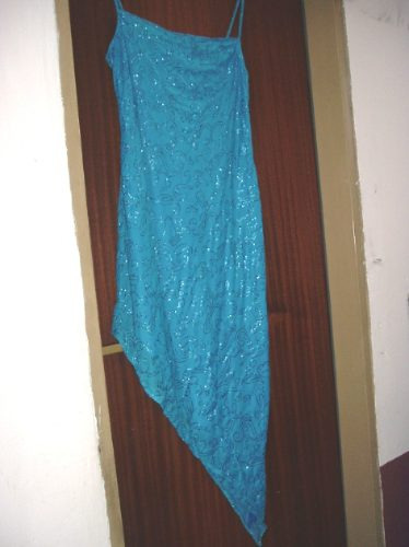 Vestido De Noche Fiesta Talle 1 Gaza C/ Lurex. Solera. Boedo