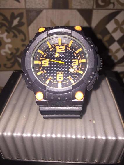 Relógio Preto E Laranja Speedo
