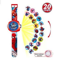 Relógio Brinquedo Infantil Spider Aranha Projeta 20 Imagens