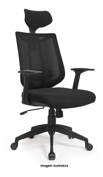 Cadeira Poltrona Presidente Tela Modelo Aika - Abbamoveis
