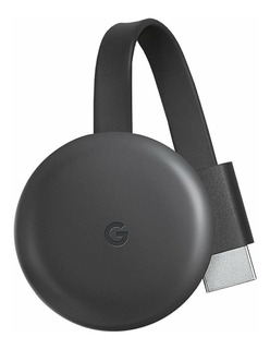 Streaming media player Google Chromecast 3rd Generation carbón con memoria RAM de 512MB