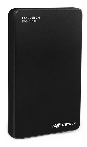 Case P/ Hd Externo 2,5 Usb 2.0 Ch-200bk C3 Tech