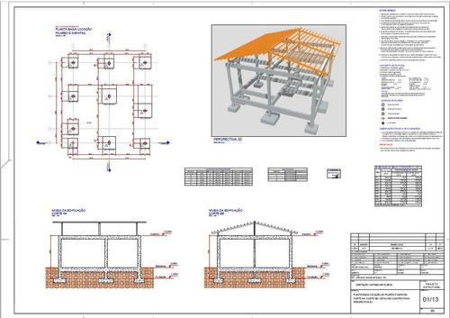 Imagem 1 de 10 de Projeto Estrutural - Habitação Unifamiliar 53,90m2