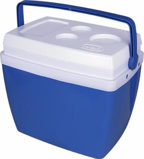 Caixa Térmica 26 Litros Azul Com Alça Tampa Porta Copos Mor