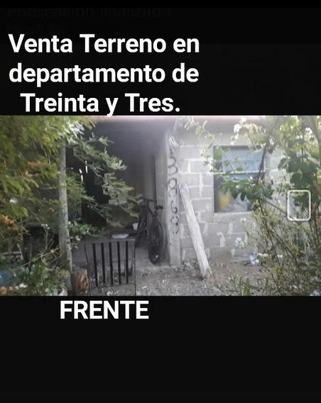 Terreno En Venta Dep. Treinta Y Tres Barrio La Calera.