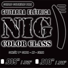 Ecordoamento P/ Guitarra Nig 0.10 Color Class
