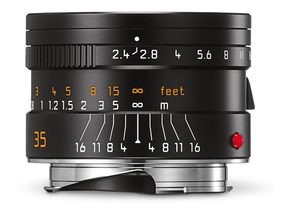Lente Leica Summarit M 35mm 2.4 Asph. Nova Na Caixa + Acessorios A Pronta Entrega!