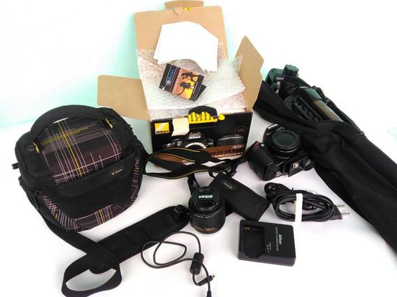 Camera-nikon D3200 Af-s Dx Nikkor 18-55mm F/3.5-5.6g Vr Ii