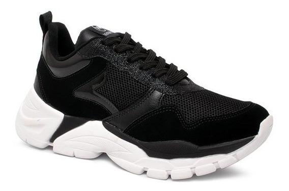 Tênis Chunky Sneaker Via Marte 20-2301 Nylon Preto