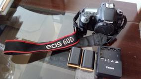 Canon 60d+02 Baterias+ Carregador