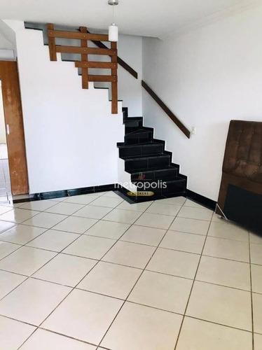 Sobrado Com 3 Dormitórios À Venda, 136 M² Por R$ 435.000,00 - Vila Bela Vista - Santo André/sp - So1440