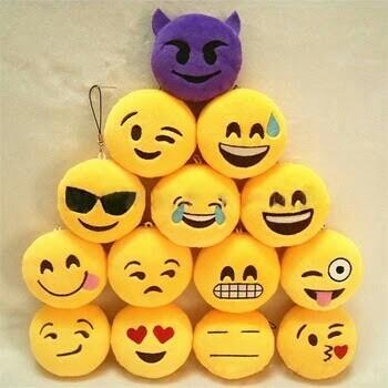 Chaveiro De Pelúcia Emoji Do Whatsapp