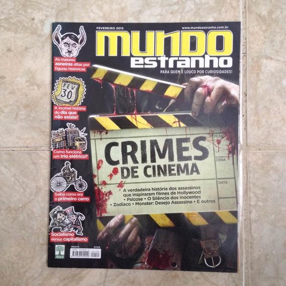 Revista Mundo Estranho N135 Crimes De Cinema Zodíaco Monster
