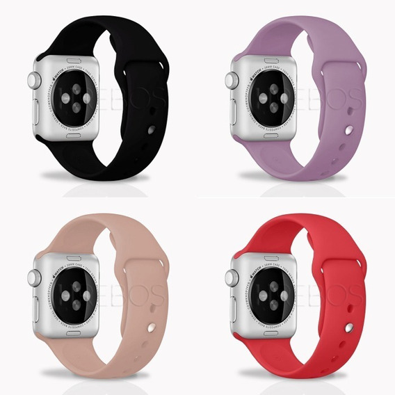 Kit 10 X Pulseira Sport Para Apple Watch 38mm 40mm Silicone